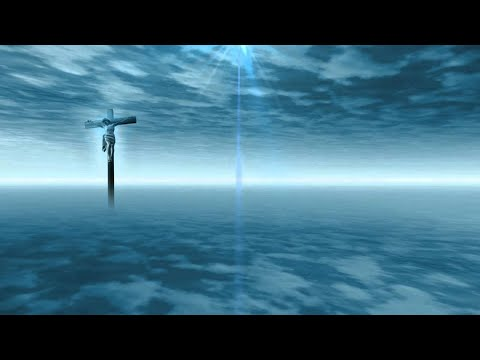Jesus Christ - Christian Cross - Worship - Blue Heaven - Clouds - Sky - Video Background HD0928