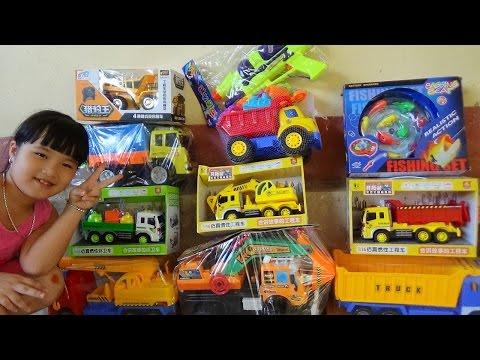 Excavator toy Xe máy xúc đồ chơi mô hình xe cần cẩu xe tải câu cá trẻ em by Giai tri cho Be yeu