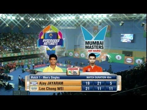 Ajay Jayaram Vs Lee Chong Wei | Men's Singles | Hyderabad Hotshots Vs Mumbai Masters 2013