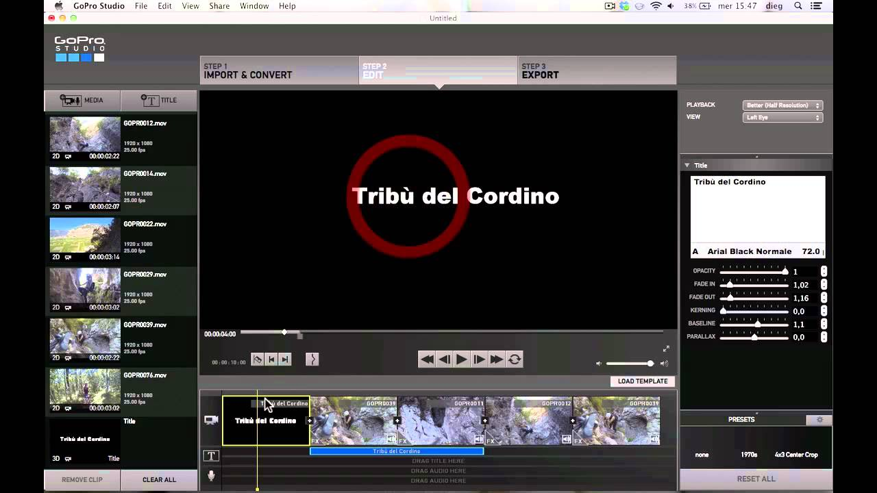 Gopro studio 2 0 step 2 edit senza usare i template for How to use gopro studio templates