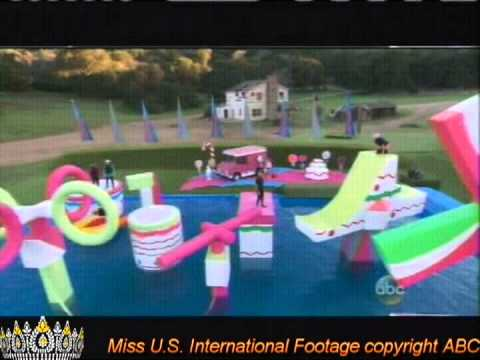 Amanda Delgado 2012 Miss U.S. International appearing in WIPEOUT