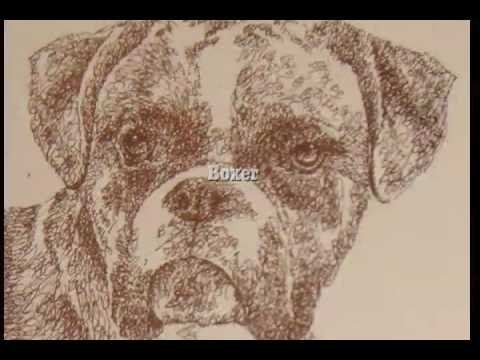 Stephen Kline draws dog art using only words