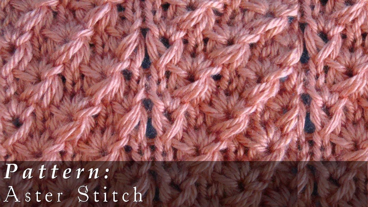Knitting Slip Stitch At Beginning Of Row : Aster Stitch Knit Slipped Stitches - YouTube