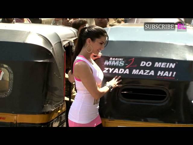 Sunny Leone promotes Ragini MMS 2 with auto rickshaws