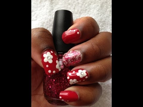 Flower Nail Art Design (Easy)
