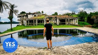 Abandoned $10,000,000 Mansion of Pablo Escobar (paint balled inside!)