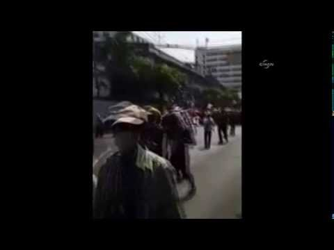 Sprengsatz bei Protestmarsch in Bangkok explodiert - Bomb hits Thai protest march