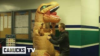 Canucks Dinosaur Scare – Hockey Halloween