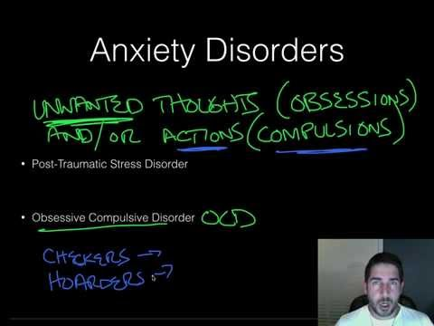 AP Psychology - Abnormal Psych - Part 2 - Anxiety Disorders