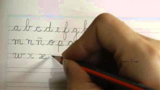 Alfabeto español en letra minúscula - Caligrafía
