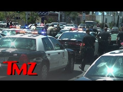 TMZ Tour runs into a police standoff in LA