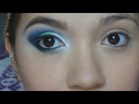 Maquillaje en azul y verde♥♥♥