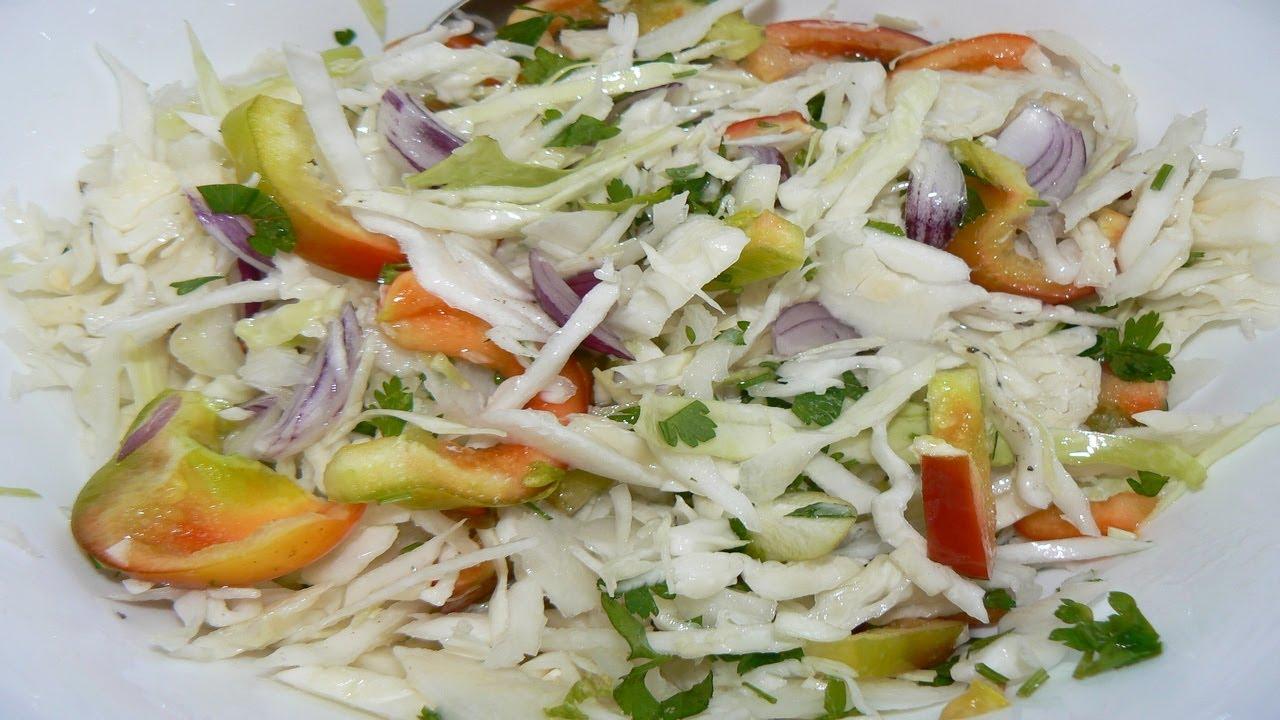 Быстрые салаты из капусты рецепты