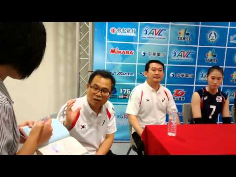 2014 AVC Women Volleyball U19 in Taipei, Korea post-match interview