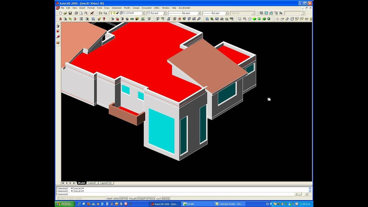 Tutorial autocad proyecto completo de una casa en 3d 2de2 - Proyectos para construir una casa ...