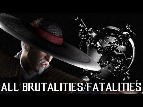 MKX Kung Lao - All Brutalities and Fatalities - Mortal Kombat X Kung Lao Gameplay