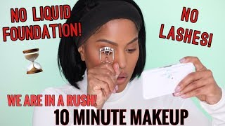 10 MINUTE MAKEUP ROUTINE, MY 2019 FOUNDATION RESOLUTION | MAKEUPSHAYLA