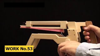 Barrel-change, String-Release Rubber Band Machine Gun