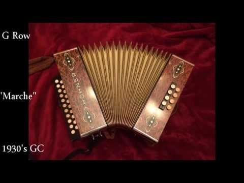 Hohner Comparison - Marche - GC Morgane vs 1930's Hohner GC Box Diatonic accordion or Melodeon