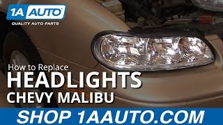 How To Install Replace Headlight And Bulb Chevy Malibu 97