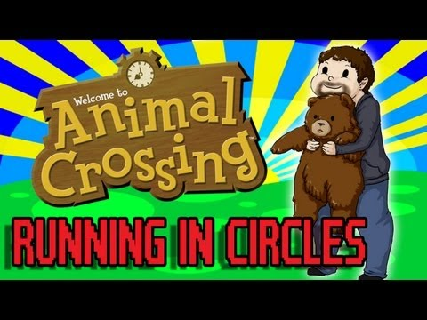 "Animal Crossing 5- Running In Circles, This is Animal Crossing on the Gamecube. It is very cute and makes me ""d'awwe."" Original drawing by: http://yami-okami-yasha.deviantart.com/ FOLLOW ME ON TWI..."