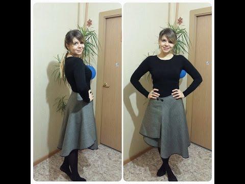 Выкройка юбки в складках