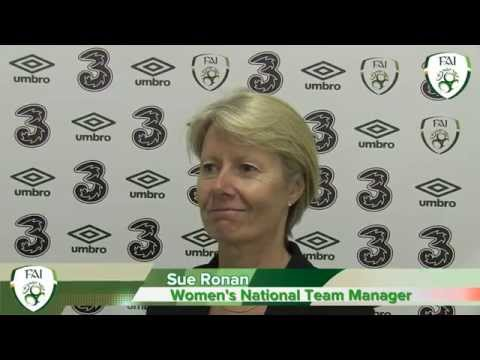 Sue Ronan Ireland v Germany post match interview