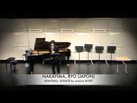 NAKAYIMA, RYO (JAPON) Sonate Jeanine RUEFF
