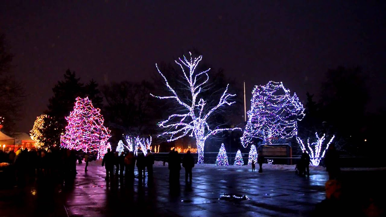 Toledo Zoo - Lights Before Christmas 2012 - Dancing Lights Display ...