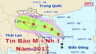 Tin bão khẩn cấp cơn bão số 2 | Tin bão mới nhất năm 2017 Sẽ đổ bộ Thanh Hóa - Hà Tĩnh