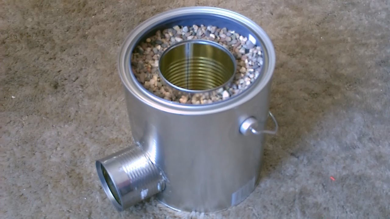 homemade tin can rocket stove diy rocket stove awesome