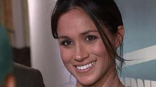 Meghan Markle Rocks New Hairstyle During Stylish Radio Station Visit With Prince Harry