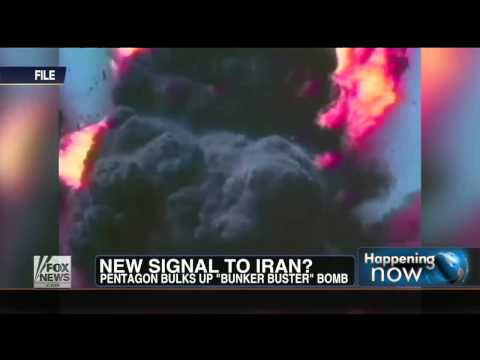 World War 3 : Pentagon unveils 30,000-pound M.O.P. Bunker Buster Bomb against Iran (May 03, 2013)
