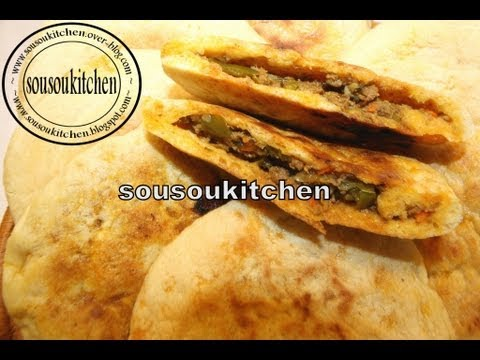 Batbout Farci -بطبوط معمر.Stuffed Batbout-Sousoukitchen