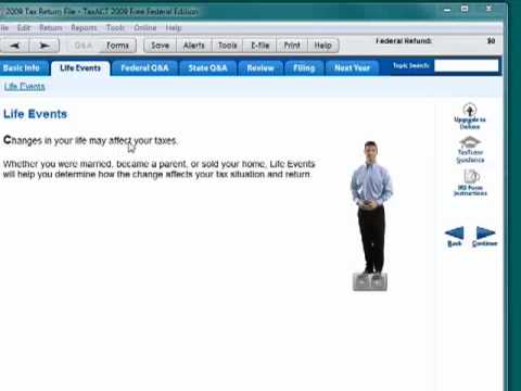 TaxACT tax preparation software
