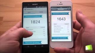 Comparativa Sony Xperia Z Vs IPhone 5 En Español