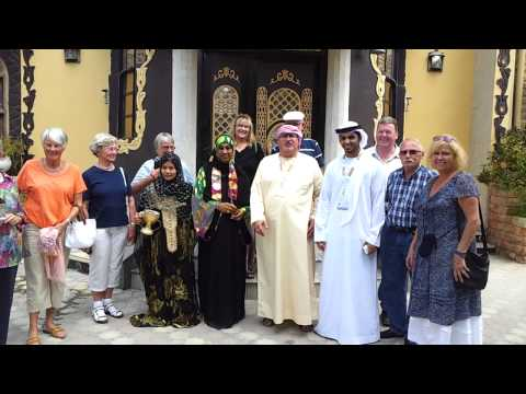 German Tourist Group in Khorfakkan