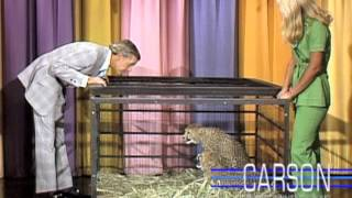 Johnny Carson Jumps into Ed McMahon's Arms