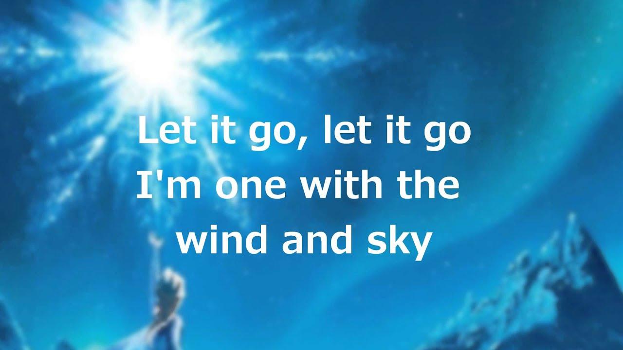 Lirik Lagu Let It Go Idina Menzel Frozen Frozen Let It Go Lyrics