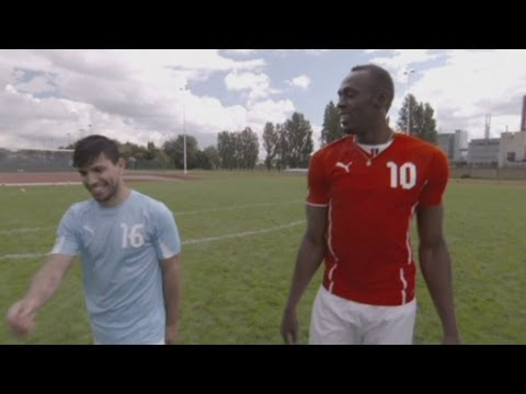 Usain Bolt vs. Sergio Aguero: Sprinter tries to trick Man City striker ahead of Manchester derby