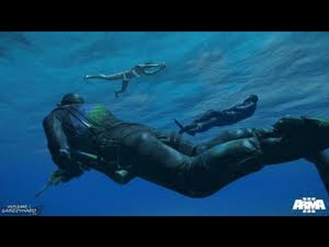 ARMA III Gameplay Alpha Español | SCUBA Showcase + No te toques HD