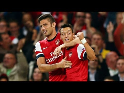 Arsenal vs. Napoli (2-0) Review - Ozil Great Game and Goal & Giroud Goal Leads Arsenal (NO Footage)