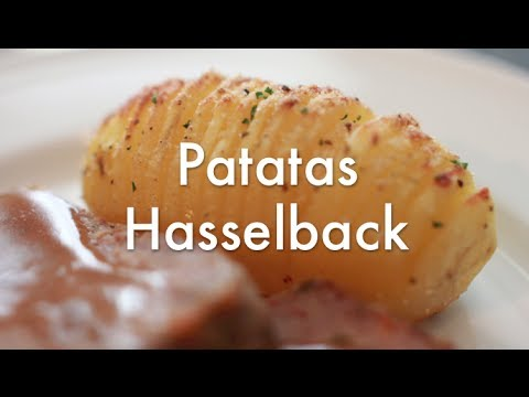 Papas Hasselback