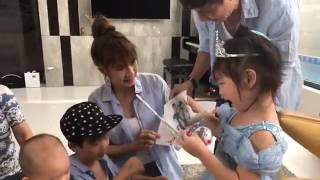 Sinh nhật Cherry 4 tuổi | Lý Hải Minh Hà