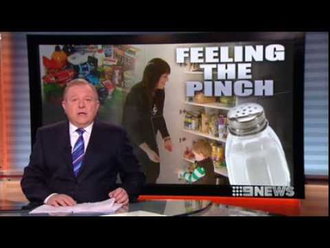 Feeling the pinch - launch of Halt Hidden Salt campaign on Channel 9 News