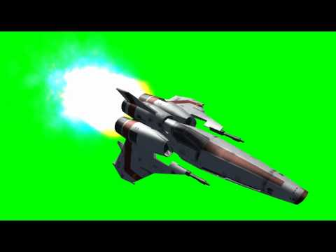 Battlestar Viper in flight - Battlestar Galactica - green screen effects -gT_4QIK23Zs