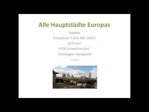 Alle Hauptstädte Europa (Teil 1) - All capitals of europe (1)