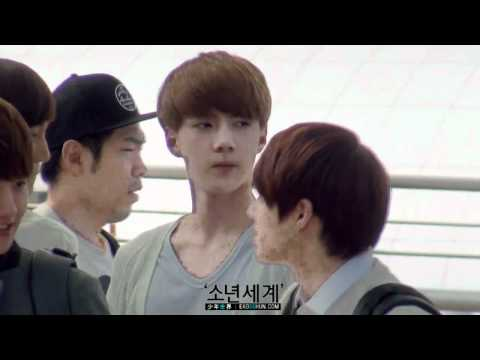 [HD Fancam] 120609 EXO-K at Incheon Airport (Sehun focus)