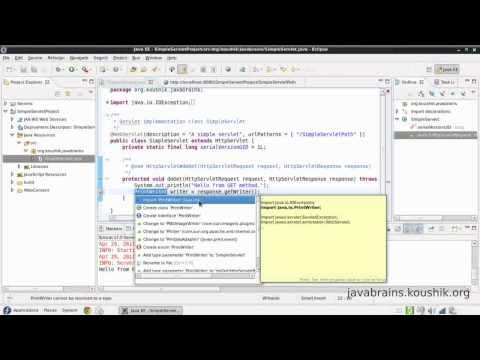 JSPs and Servlets Tutorial 02 - First Servlet Part 2