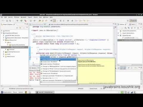 JSPs and Servlets Tutorial 02 - First Servlet Part 2